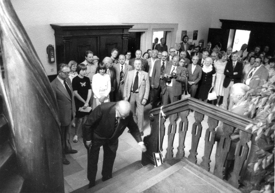 Eröffnung des »Dokumentations- und Kulturzentrums Westpreußen« am 6. Juli 1975 in Münster-Wolbeck durch den damaligen Bundessprecher Felician Antonius Prill