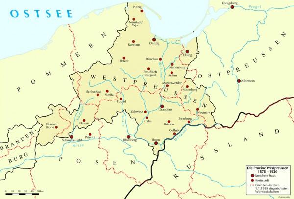 Die Provinz Westpreussen 1878-1920