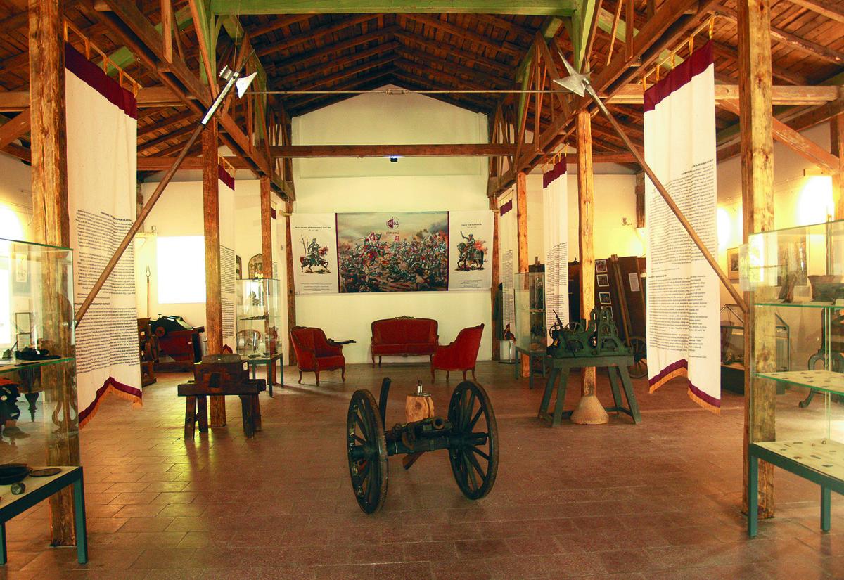 Ausstellungsraum des Krockower Museums