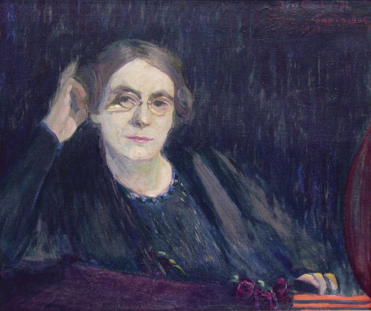 Ida Gerhardi, Selbstbildnis III, 1905, Städtische Galerie Lüdenscheid; Foto: Nicolas Schönherr