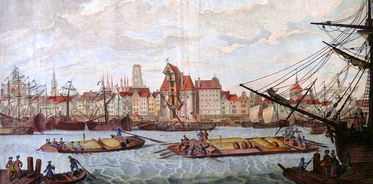 Ansicht des Danziger Hafens:; 1770