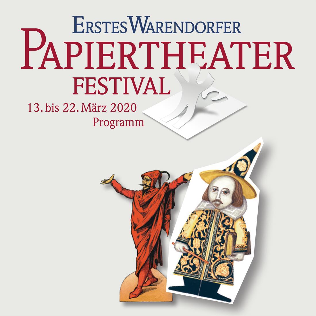 Programmheft des Warendorfer Papiertheaterfestivals 2020
